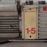 Edwards 1.5 E2M1.5 Rotary Vane Dual Stage Mechanical Vacuum Pump, 115 VAC 1 ph, PN: A37132902